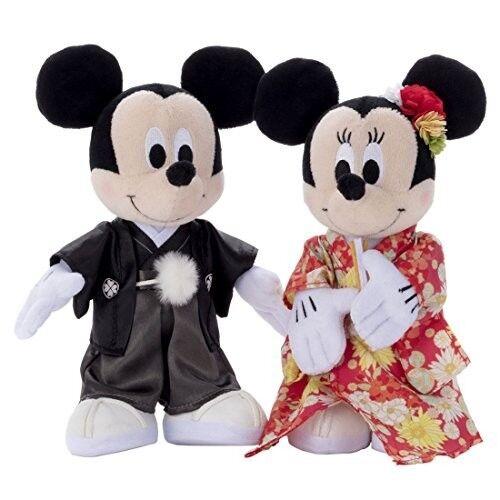 2017 Bridal Mickey Minnie Mouse Wedding Doll Set In Kimono Figure Fs An Ebay