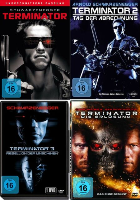 THE TERMINATOR DVD Collection 1-4 - YouTube