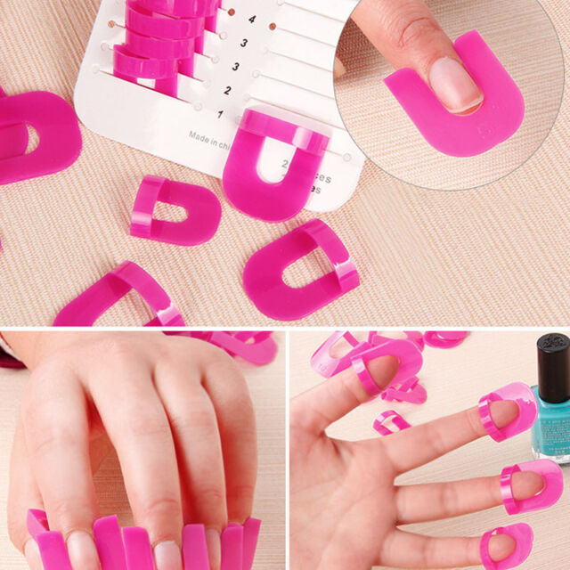 26pcs Durable Nail Polish Glue Spill Proof Manicure Protector Tools 1sticker