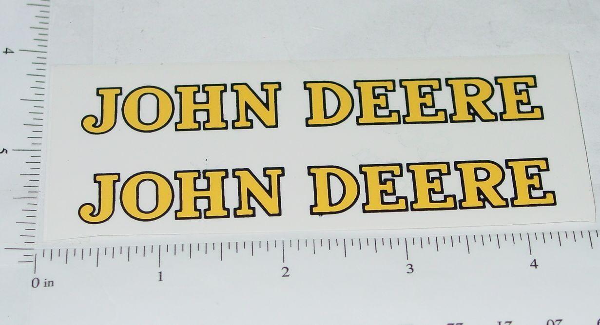 John Deere Yellow Black 4 Text Stickers Stickers Jd 390 Ebay