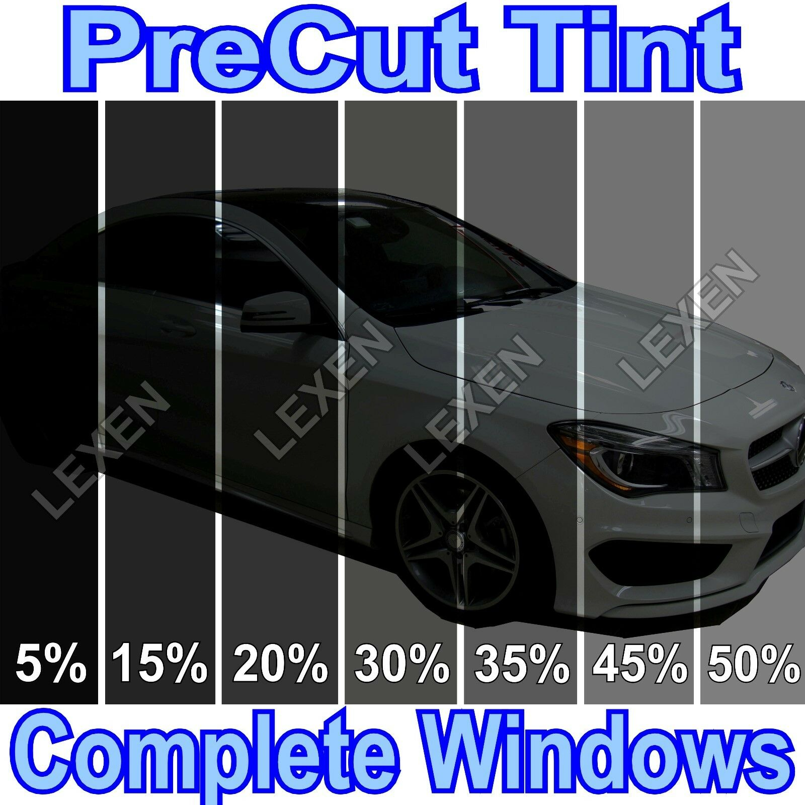 All Precut 2ply Dyed Window Tint Kit puter Cut Glass Car Any