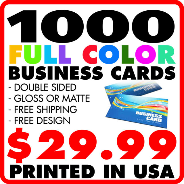 1000 custom full color business cards design ebay 1000 custom full color business cards free design free shipping colourmoves