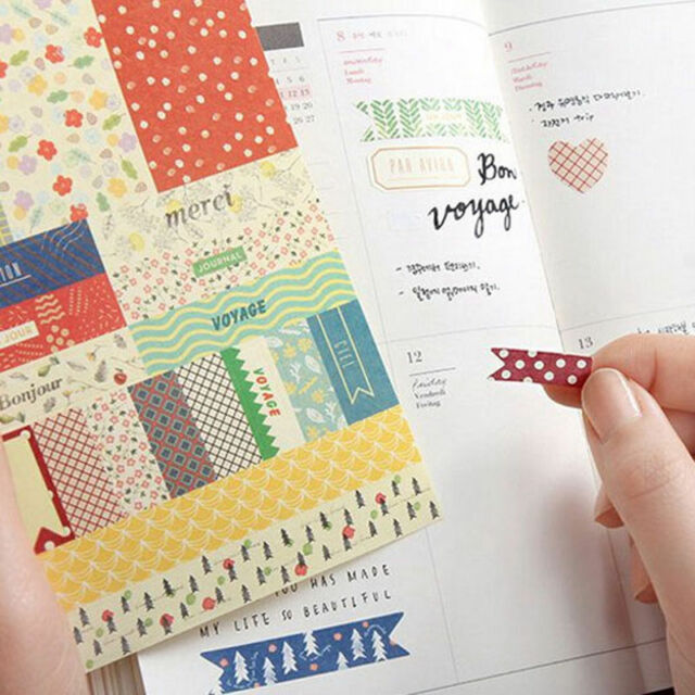 8pcs Forest Story Paper Stickers Scrapbook Calendar Diary Planner