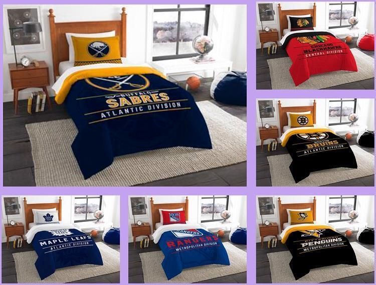 Minnesota Wild Comforter Set Nhl 2pc Twin Size Bedding Sham Hockey