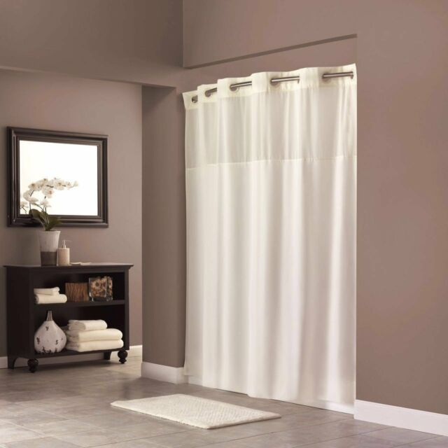 on Hookless Shower Curtain Polyester 70 X 74 Inch With Light ...