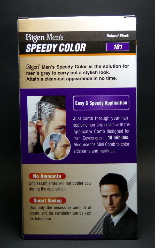 Bigen Men Speedy Color Hair Dye Natural Black 101 No Ammonia Cream 2