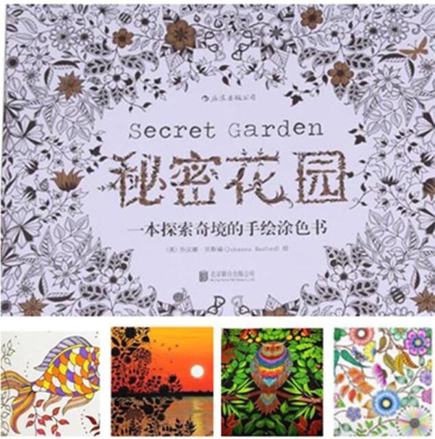 Pop Practical Adult Children Secret Garden An Inky Treasure Hunt Colouring Book