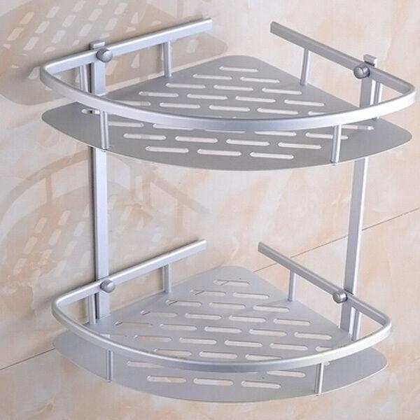 Triangular Shower Caddy Shelf Bathroom Wall Corner Rack Storage ...