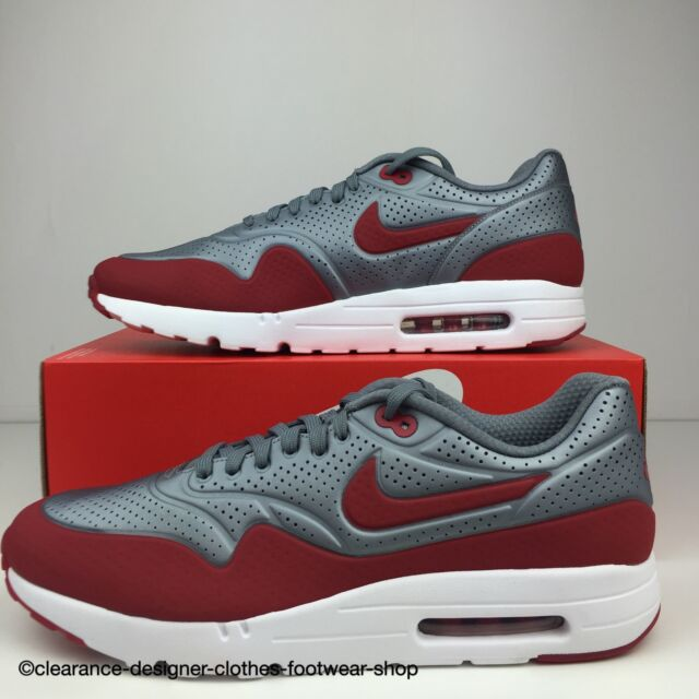 NIKE AIR MAX 1 ULTRA MOIRE TRAINERS MENS CASUAL GREY RED SHOES UK 12 RRP £
