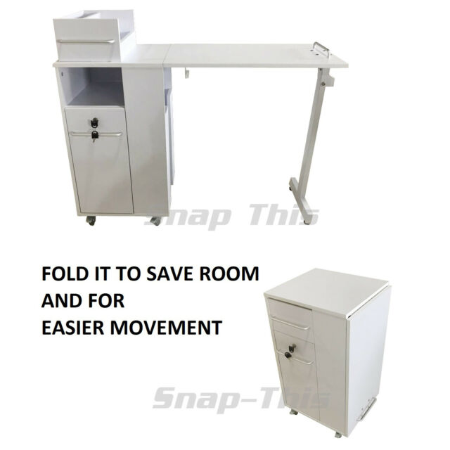 Nail Art Portable Mobile Desk Manicure Table Salon Technician ...