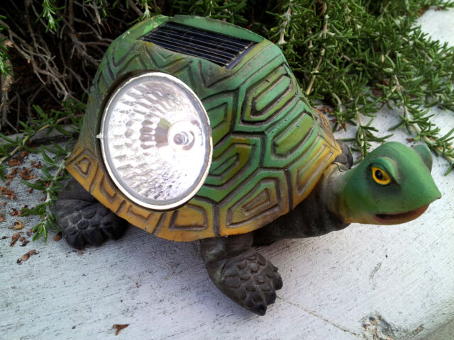 2 Outdoor Garden Solar Green Tortoise/Turtle Garden Decor Light
