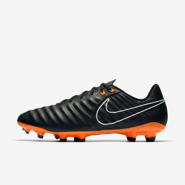 Nike Men's Tiempo Legend 7 Academy FG (Black/Total Orange/White) AH7242