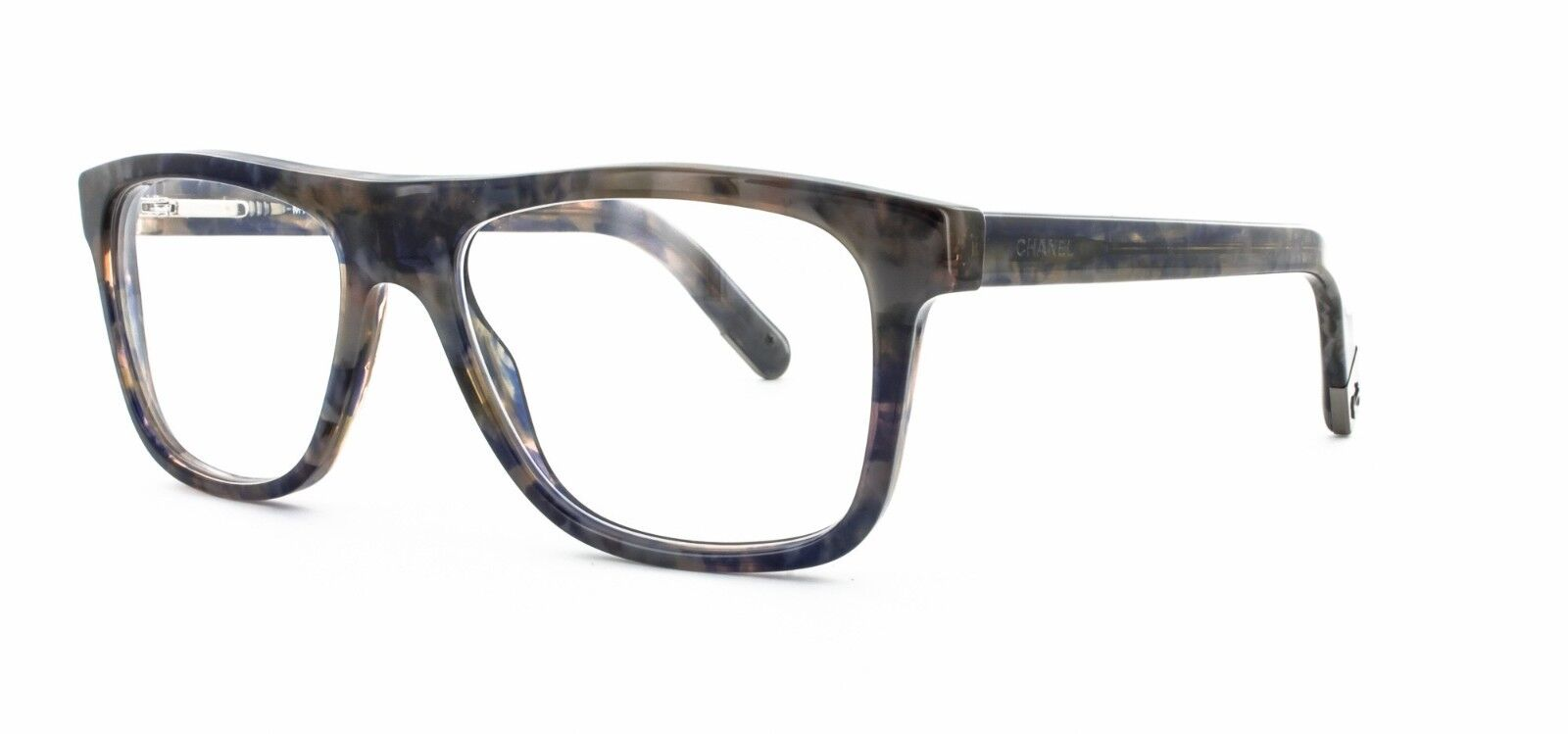 CHANEL Eyeglasses 3240 1392 Blue Two-tone Frames Authentic 52mm W ...