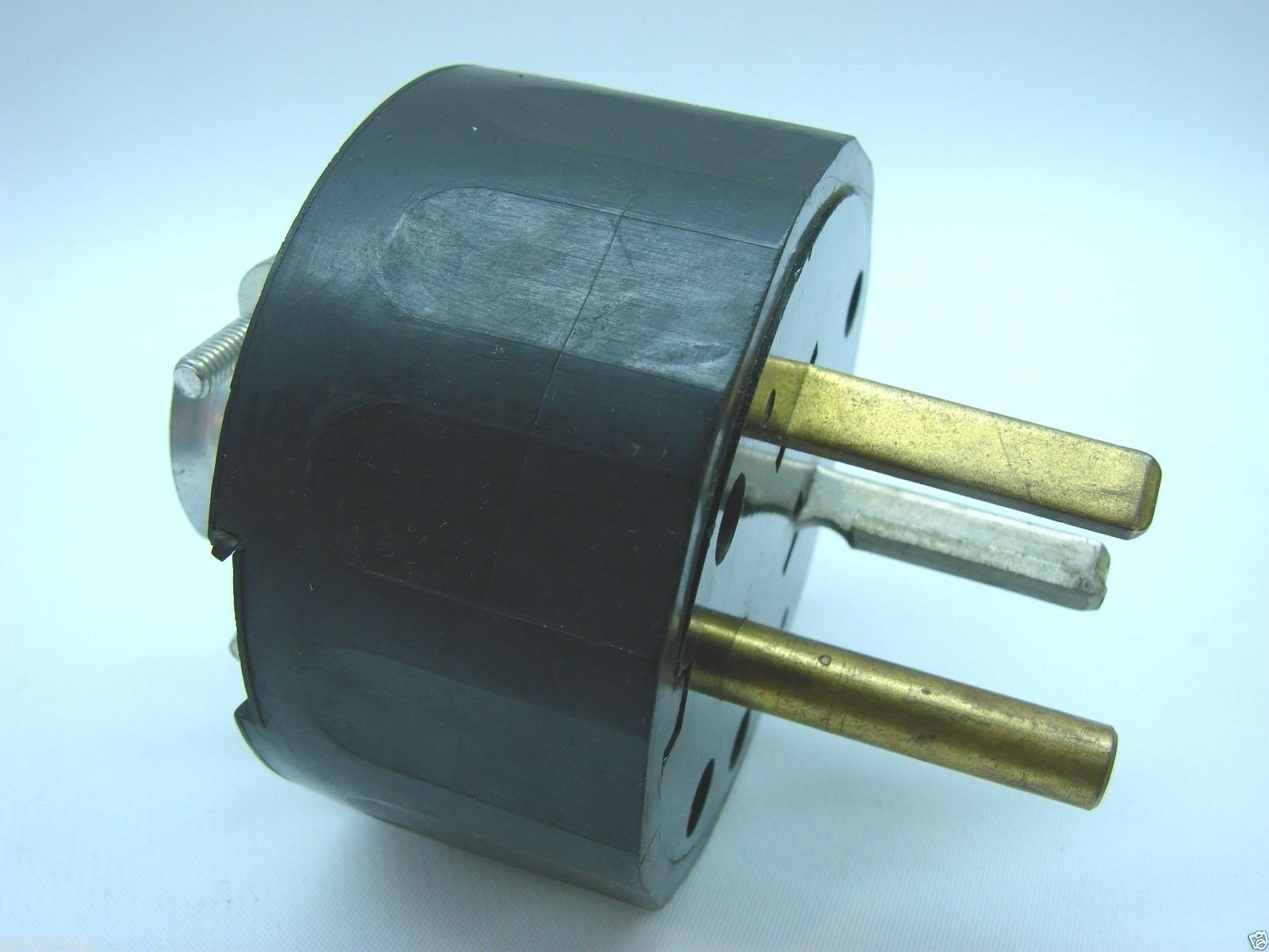 Hubbell Vintage 2 Pole 3 Wire 125 Volt 30 Amp AC Plug T8 | eBay