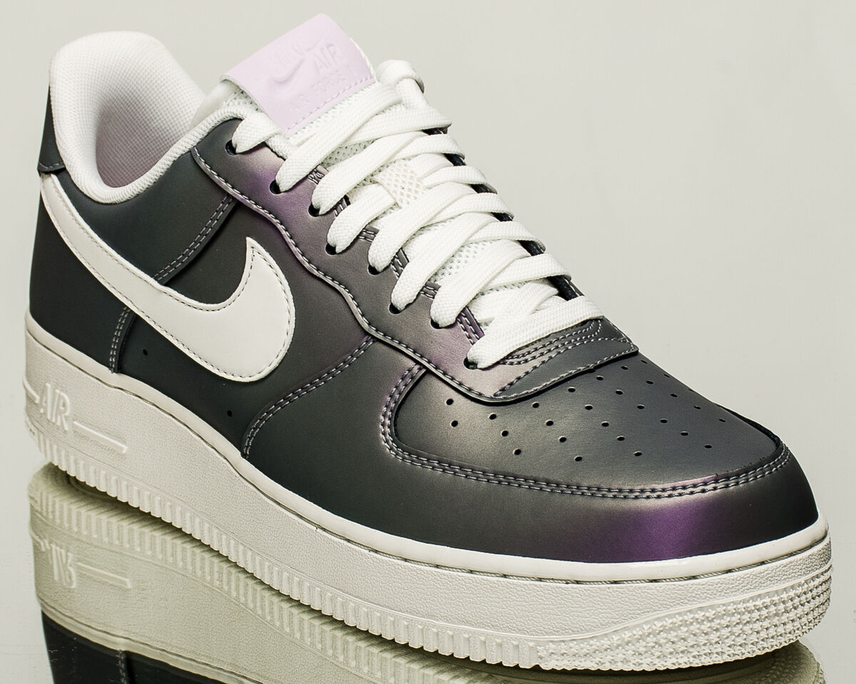 NEW NIKE MENS AIR FORCE 1 LOW '07 ICED LILAC WHITE BLACK SHOES 823511-500 SZ 10