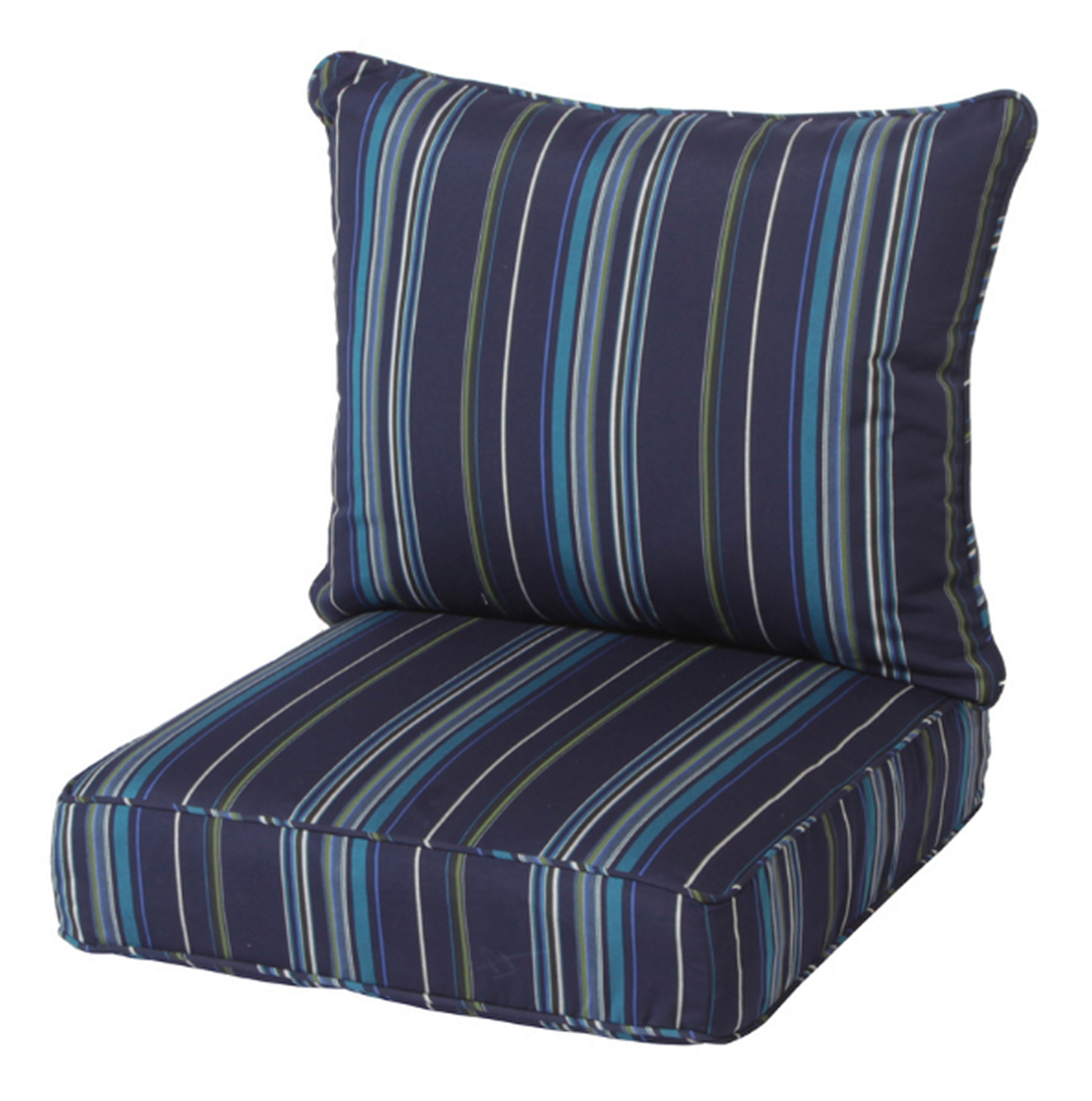 deep seat chair cushion stanton lagoon stripe zipper closure cover