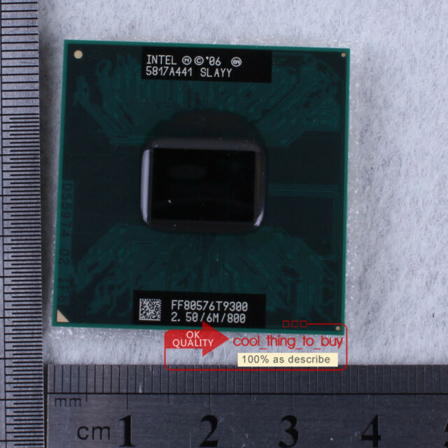 Intel Core 2 Duo T9300 SLAYY CPU Processor 2.5/6M/800 100% work free sp