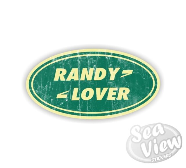 Randy lover it land rover symbol range car van bedroom wall window decal sticker