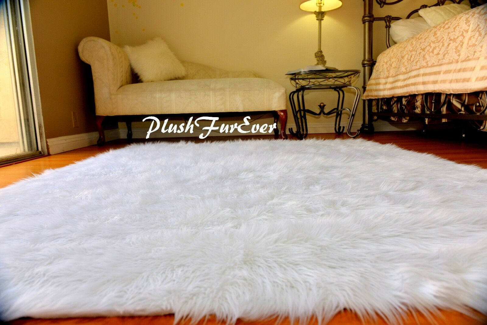 3x5 True Snow White Faux Fur Rugs Sheepskin Rectangle Flokati