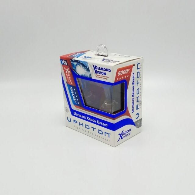 H8 PHOTON Diamond Vision 12V Halogenlampe Xenon Effekt 5000K