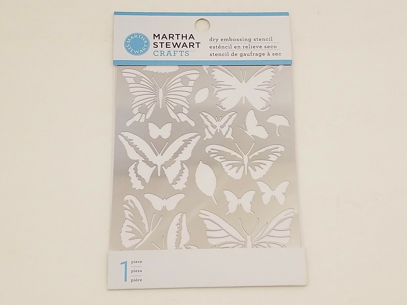 Martha Stewart Crafts Dry Embrossing Stencils Butterfly Glossary Set