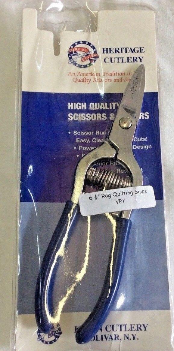 Heritage Cutlery Vp7 Spring Loaded Rag Quilting Snips Ebay