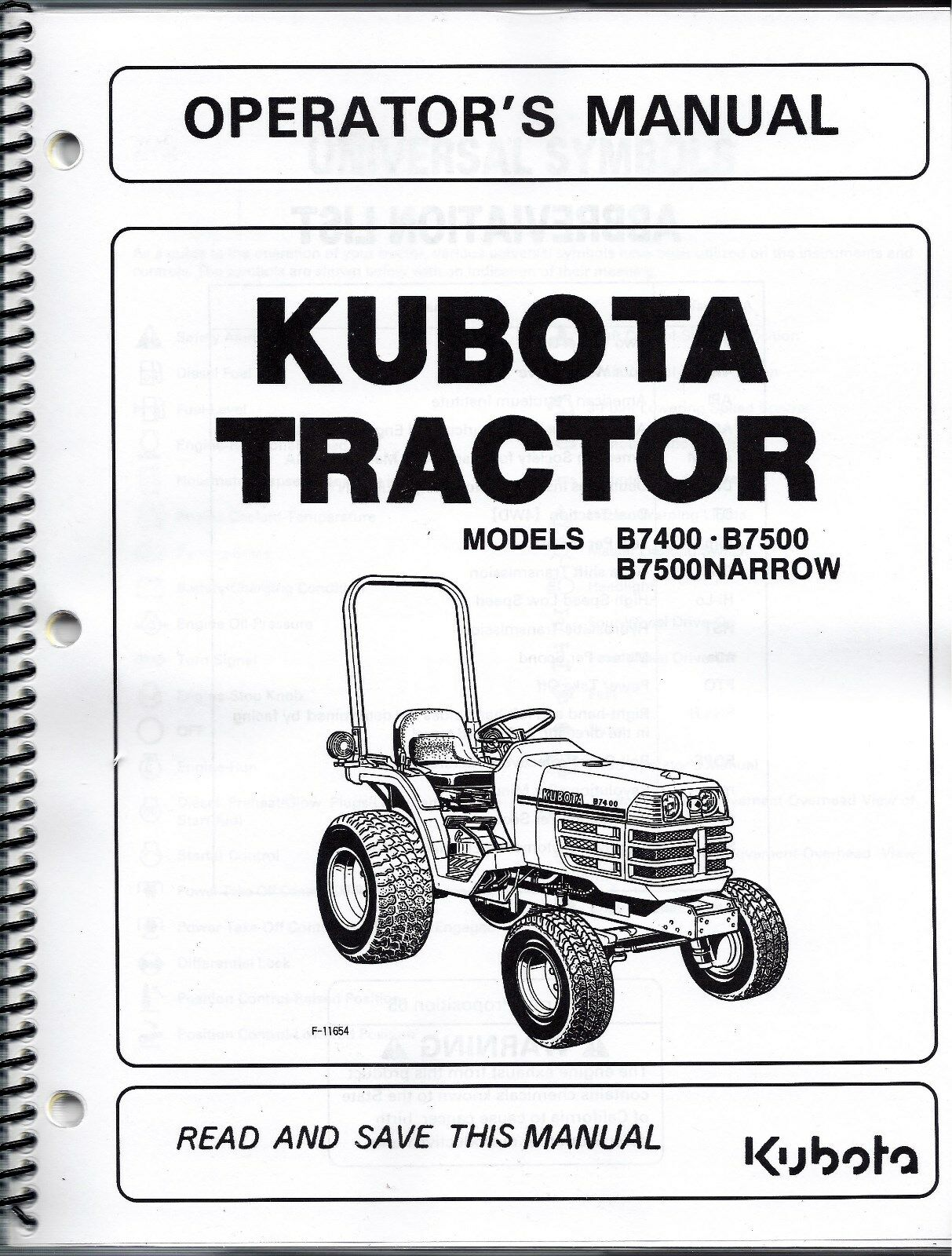 Kubota b7400 b7500 tractor operator manual 6c120 63113 ebay resntentobalflowflowcomponenttechnicalissues pooptronica Images