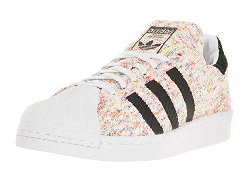 Mens adidas Superstar 80s Primeknit Multi Color White Black S75845 US 11    eBay