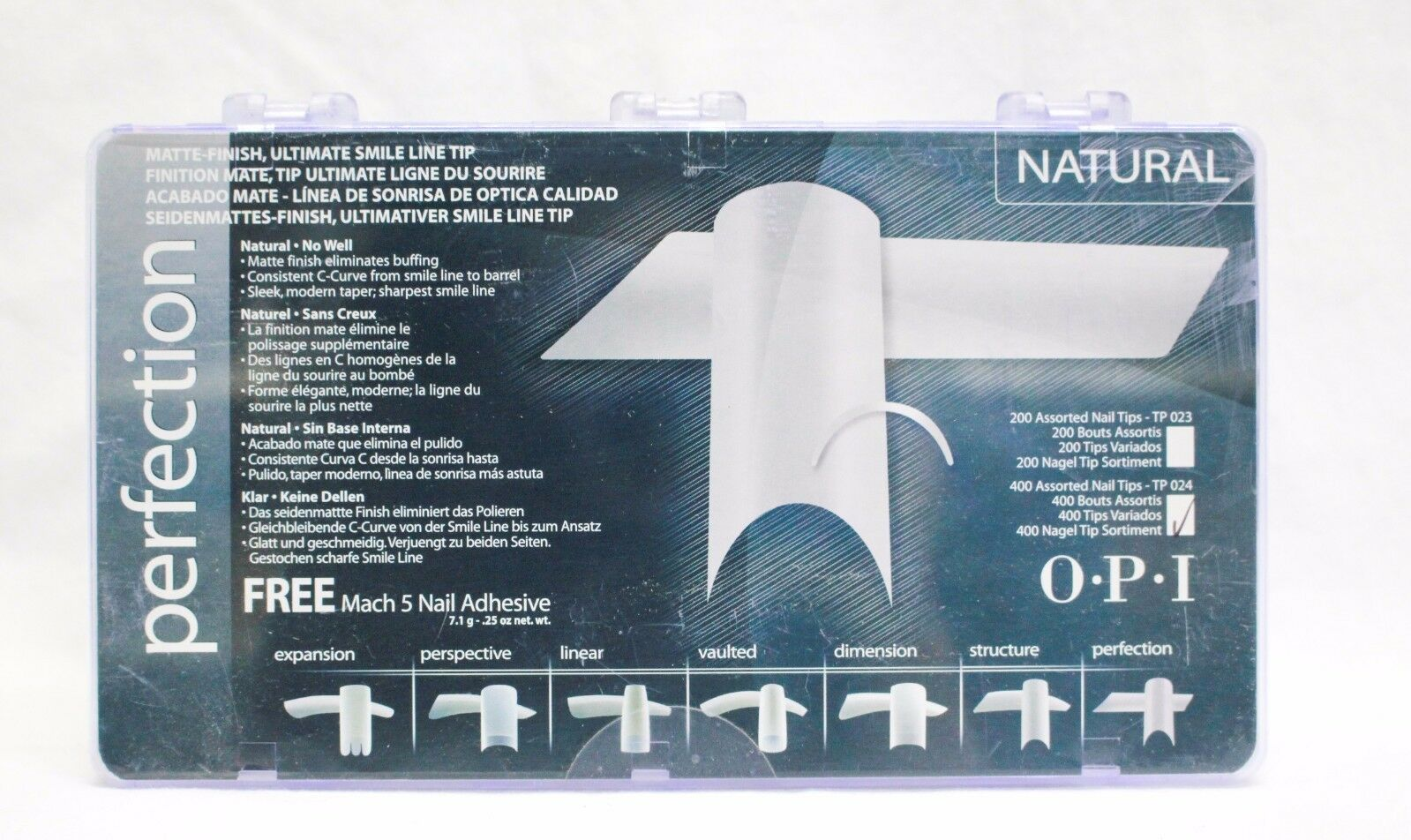 OPI Nail Tips Perfection Natural 400ct/box | eBay