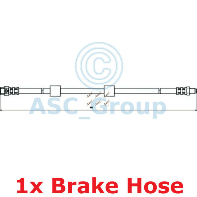 Apec Braking 440mm Disc Brake Caliper Flexible Rubber Hose HOS3048