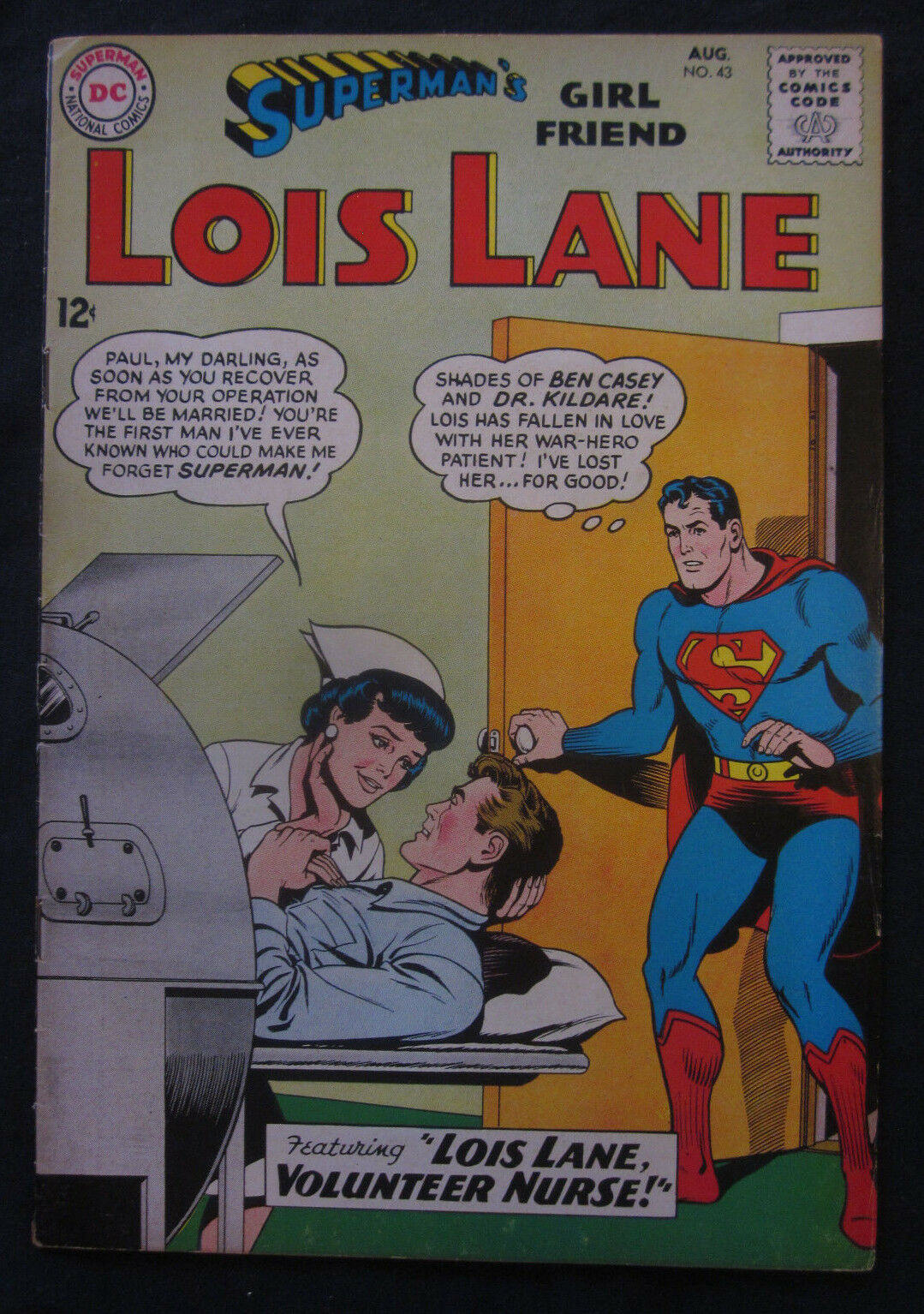 Supermans girl friend lois lane 43 aug 1963 dc ebay resntentobalflowflowcomponenttechnicalissues thecheapjerseys