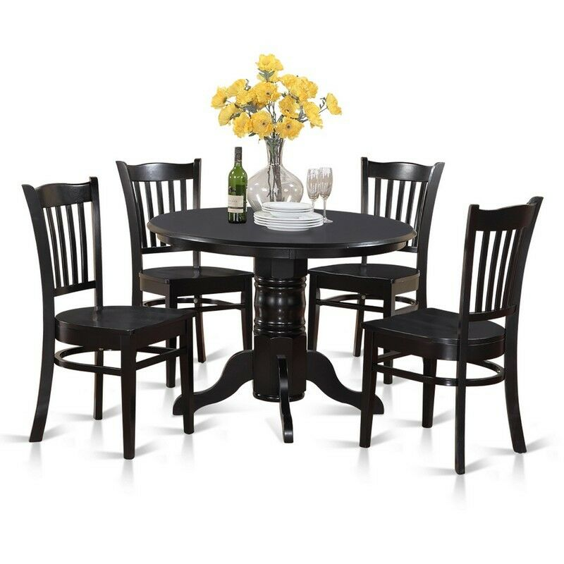 East west furniture shelton 5 piece 42 inch round kitchen table set picture 1 of 1 watchthetrailerfo