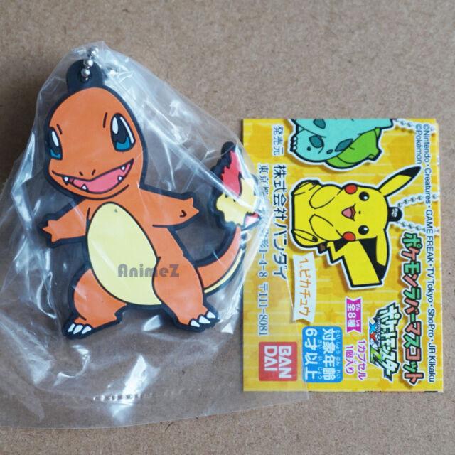 Official Pokemon XY&Z rubber mascot keychain - Charmander Pocket Monster BANDAI