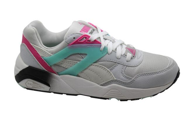 PUMA TRINOMIC R698 SPORT scarpa da ginnasticaRAGAZZI corsa pizzo bianco 359711