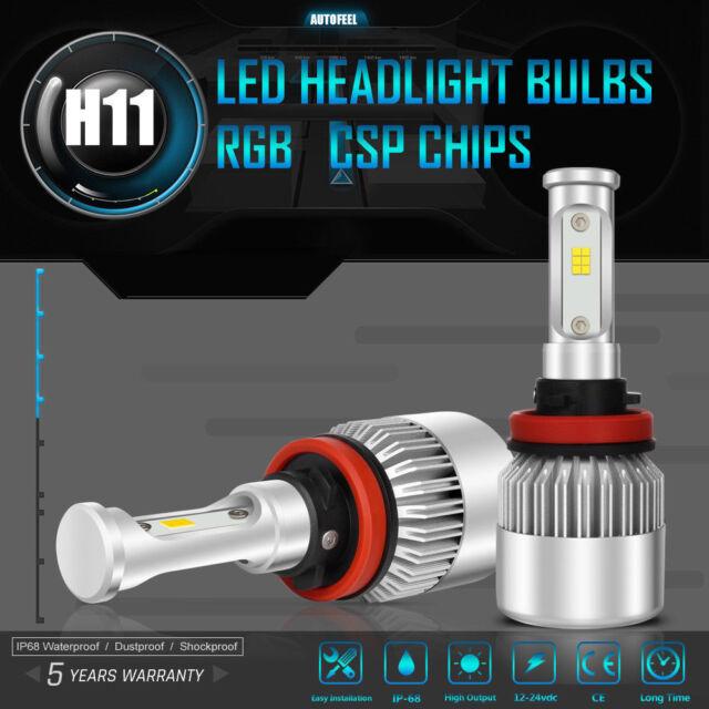 H11 CREE LED Low Beam Headlight Lights Bulbs Kit High Power 6500k White  Pair US