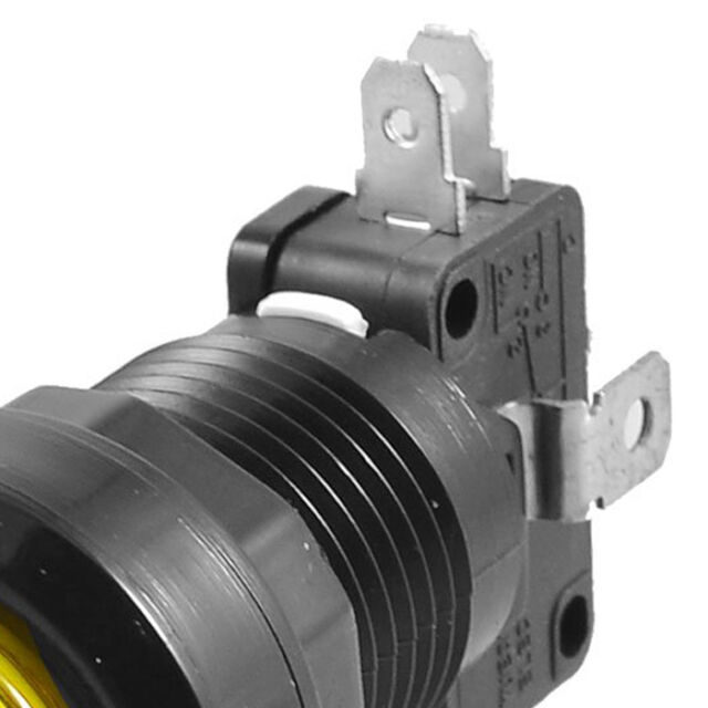 24mm Yellow Illuminated Momentary Push Button SPDT Micro Switch HY