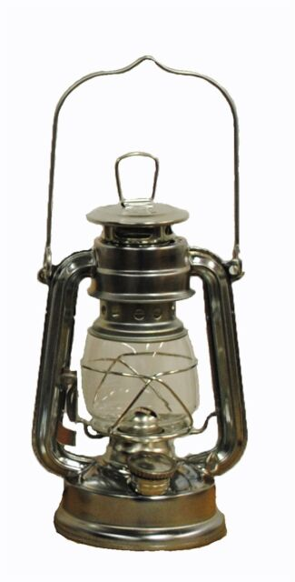 Silver Hurricane Kerosene Oil Lantern Emergency Hanging Light / Lamp   8  Inches