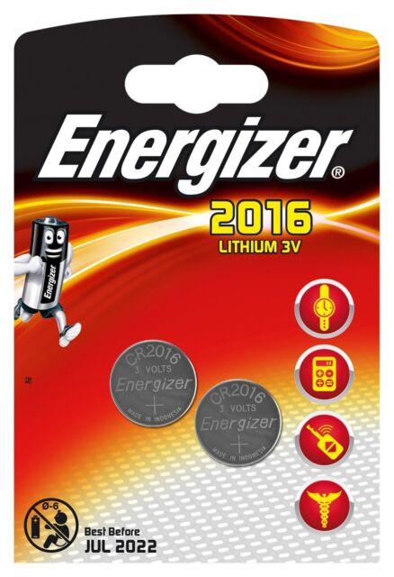 Energizer LOT DE 10 BLISTER DE 2 Piles Lithium CR2016 3 V
