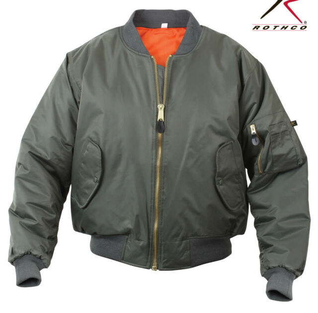 Gunmetal Grey Military Reversible Ma-1 Bomber Jacket Flight Coat ...