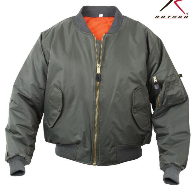 Military CWU 45p Sage Green USAF Flight Jacket Size L | eBay