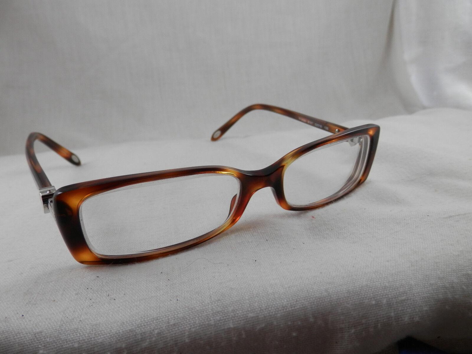 Tiffany & Co. Tf2035 8107 Eyeglass Frames Havana Italy RX Silver ...