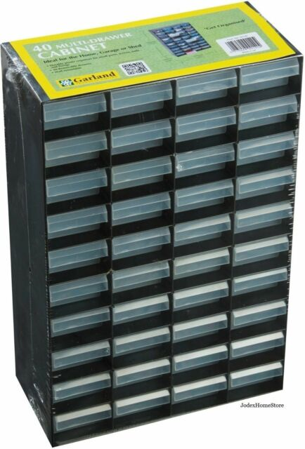 Garland Hobby Small parts storage cabinet organizer box with 40 drawers G0140