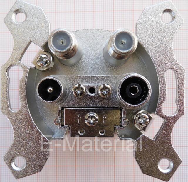 Antennendose 4-fach / Sat-Dose / Enddose Astro GUT 400  4-Lochdose Stichdose neu