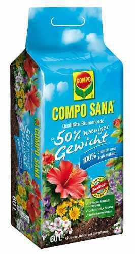 COMPO SANA® Qualitäts-Blumenerde ca. 50% weniger Gewicht 60 L (0,22€/1l)