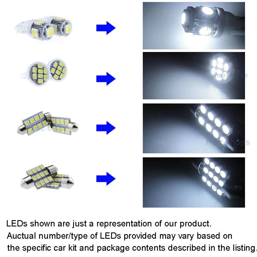 11×xenon White LED Interior Light Kit for MITSUBISHI Lancer EVO X ...