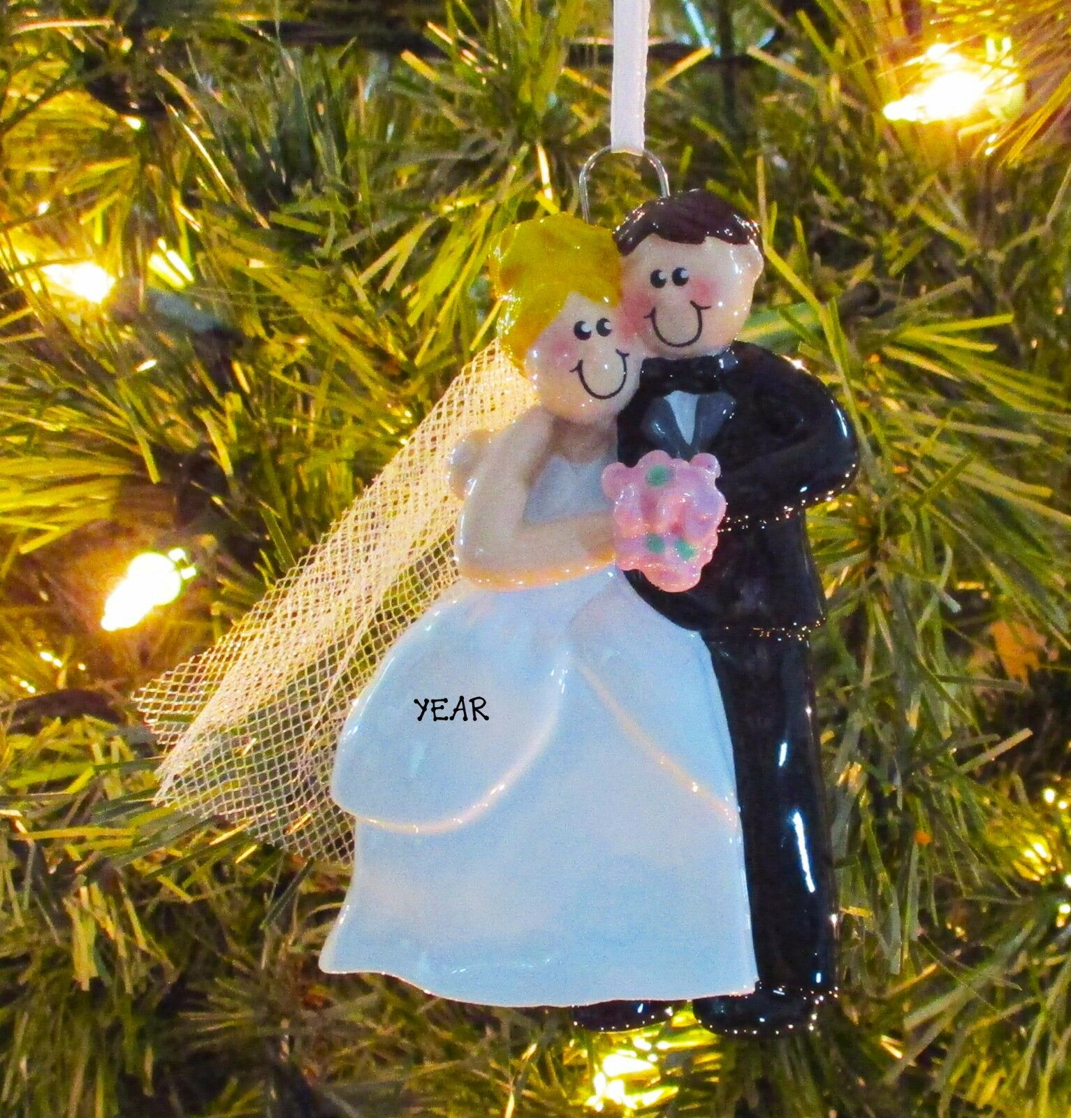 Cozy wedding couple blonde personalize it yourself christmas tree picture 1 of 4 solutioingenieria Choice Image