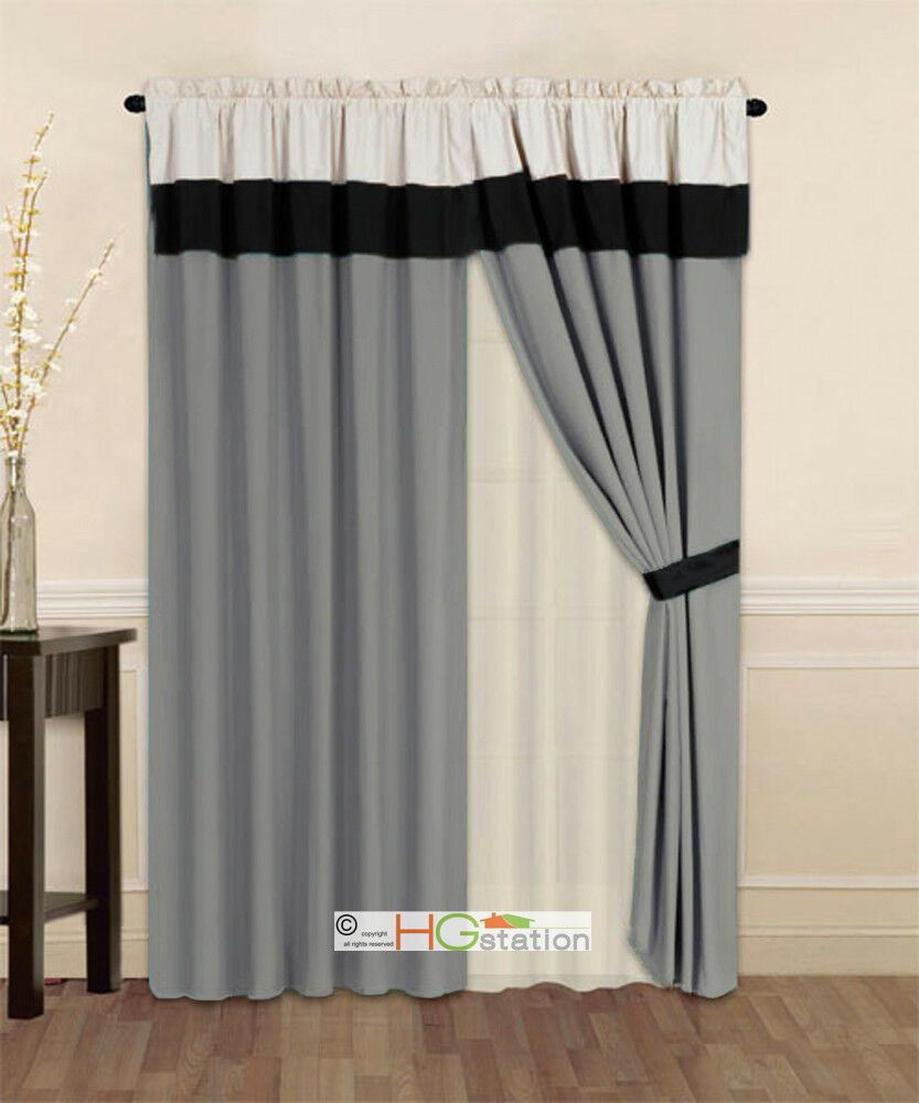 blockout drape drapes pelmet itm beige pleats sheer swag with fabric eyelet valance ivory creamy