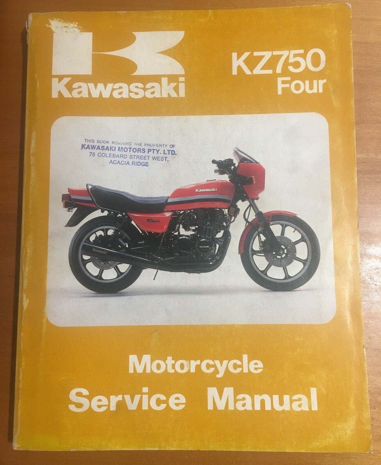 1982 Kz750 Manual Four Wiring Diagram Original To Kawasaki Motorcycle Factory Service 1310x1600