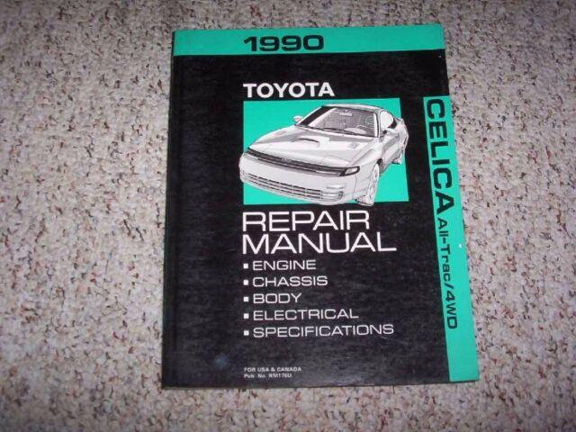 1990 toyota celica all trac factory service manual original shop rh ebay com 2000 Toyota Celica 2000 Toyota Celica