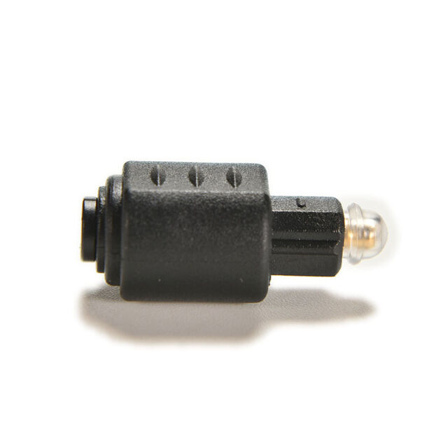 Mini Optical Audio Adapter 3.5mm Female Jack Plug to Digital Toslink Male YA